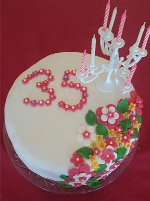 Torte 35. Geburtstag