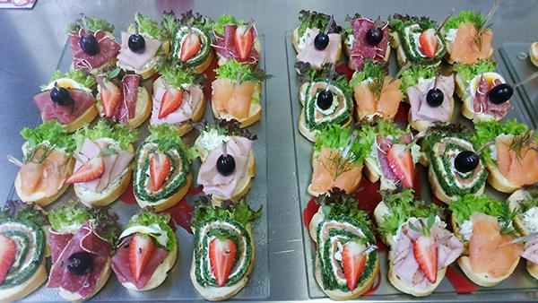 catering belegte Brötchen